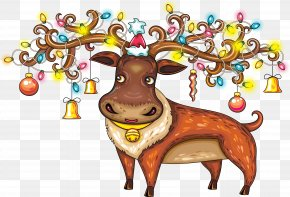 Reindeer - Reindeer Santa Claus Ded Moroz New Year PNG