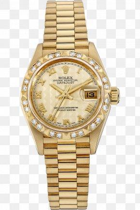 Diamond Bezel - Rolex Datejust Automatic Watch Rolex Gold PNG