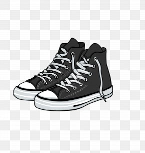 Vector Black Plate Shoes Skateboard Shoes - Shoe Converse High-heeled Footwear PNG