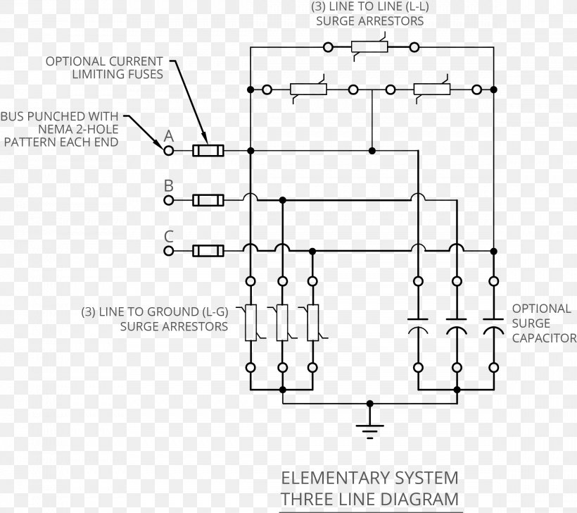 Wiring Diagram Circuit Diagram Electrical Wires  U0026 Cable Surge Protector  Png  2378x2114px