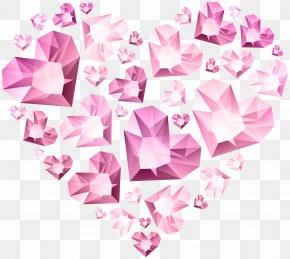 Hert Of Diamond Hearts Transparent Clip Art - Heart Clip Art PNG