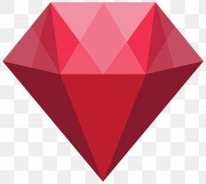 Red Crystal Transparent Clip Art Image - Crystal Clip Art PNG