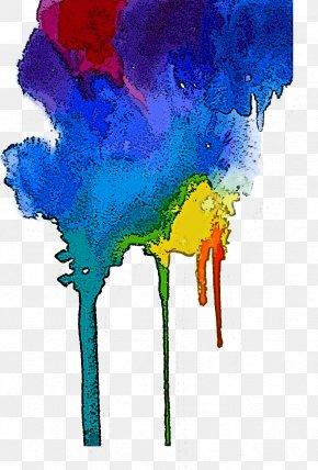 Acrylic Paint Child Art - Watercolor Paint World Electric Blue Paint Child Art PNG
