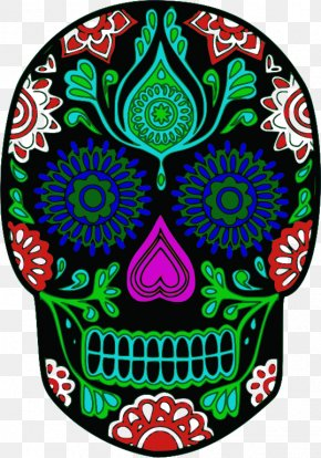 Cinco De Mayo Day Clip Art Sugar Skull - Calavera Day Of The Dead Skull Clip Art PNG