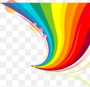 Colorful Cartoon Beautiful Rainbow - Rainbow Euclidean Vector PNG
