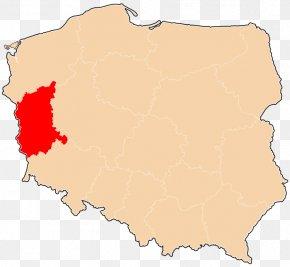 Map - Zielona Góra Voivodeship Lower Silesian Voivodeship Map Greater Poland Voivodeship PNG