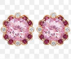 Swarovski Jewelry Pink Jewelry Earrings - Earring Ruby Jewellery Swarovski AG PNG