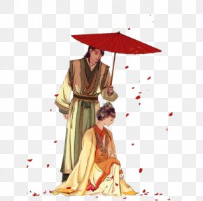Umbrella Couple - Designer Umbrella PNG