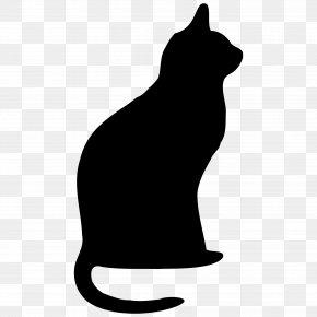 Black Cat - Black Cat Kitten Silhouette Clip Art PNG