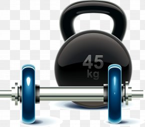Dumbbell - Cartoon Dumbbell Physical Fitness PNG