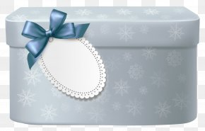 Blue Box - Gift Christmas Clip Art PNG