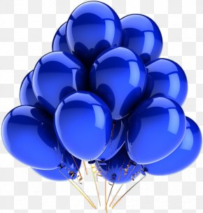 Blue Happy Birthday - Balloon Blue Stock Photography Party Greeting & Note Cards PNG