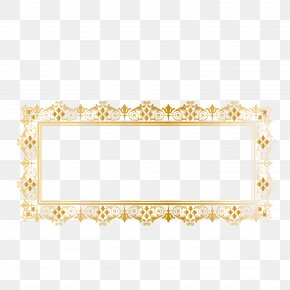 Vector Pattern Gold Rim Gold Frame - Phnom Penh Euclidean Vector PNG