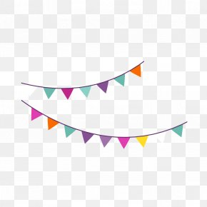 Cartoon Birthday Party Hanging Flag Vector - Birthday Party Icon PNG