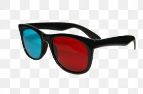 Glasses - Goggles Sunglasses Red Anaglyph 3D PNG