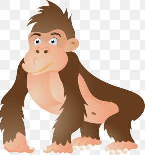 Gorilla Vector - Gorilla Ape Chimpanzee Cartoon Clip Art PNG