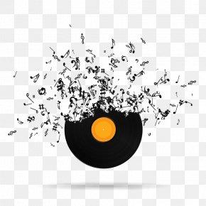 Vinyl Hand - Musical Note Euclidean Vector PNG