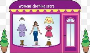 Hand Painted Color Ladies Window Model - Clothes Shop Clothing Boutique Fashion Clip Art PNG