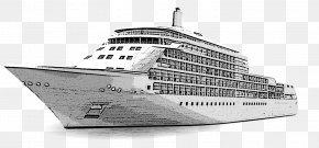 Cartoon Yacht - Cruise Ship Drawing Yacht Cartoon PNG