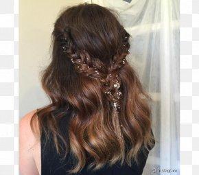 Hair - Long Hair Hairstyle Glitter Braid PNG