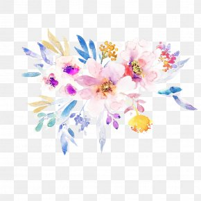 Wildflower Flowering Plant - Flower Plant Cut Flowers Watercolor Paint Petal PNG