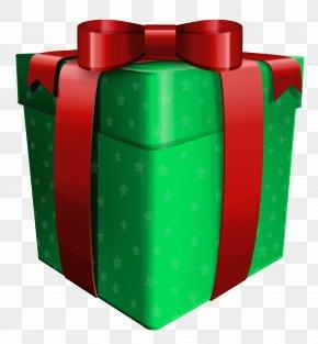 Green Present Clip Art - Gift Birthday Clip Art PNG