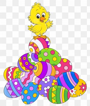 Easter Eggsand Chicken Picture - Easter Bunny Chicken Clip Art PNG