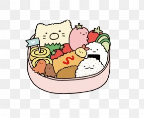 Vector Cute Lunch Box - Bento Lunch Clip Art PNG