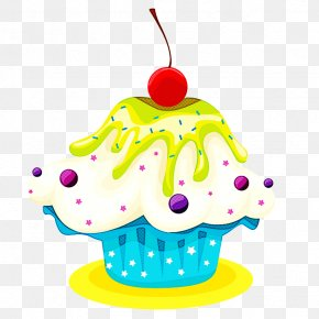 Muffin Cake - Birthday Candle PNG