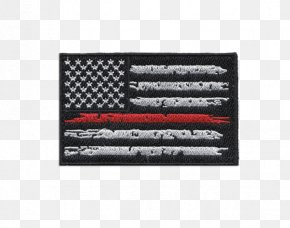 American Flag Skull Military - Flag Of The United States The Thin Red Line Thin Blue Line Flag Patch PNG