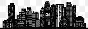 Cityscape Silhouette Clip Art Image PNG