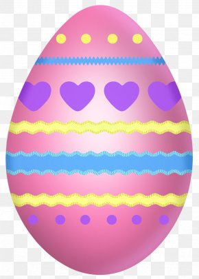 Easter Pink Egg With Hearts Clipart Picture - Red Easter Egg Clip Art PNG
