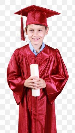 Gown - Graduation Ceremony Academic Dress Boy Square Academic Cap PNG