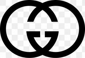 Black And White Gucci Logo Chanel - Gucci Logo Milan Fashion Week Illustration PNG