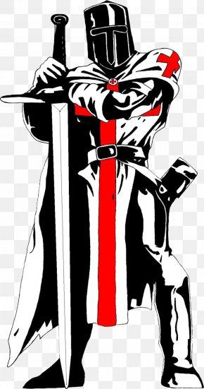Medival Knight - Crusades Knights Templar Solomon's Temple Flag PNG
