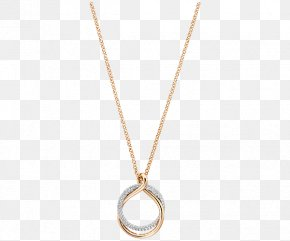 Swarovski Jewellery Women,Gold Necklace - Locket Necklace Chain Metal Jewellery PNG