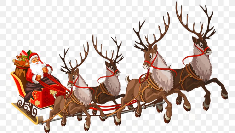 Santa Claus Mrs. Claus Rudolph Sled, PNG, 800x466px, Santa Claus, Antler, Christmas Day, Christmas Eve, Deer Download Free