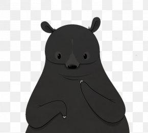 Black Bear - American Black Bear Cartoon PNG