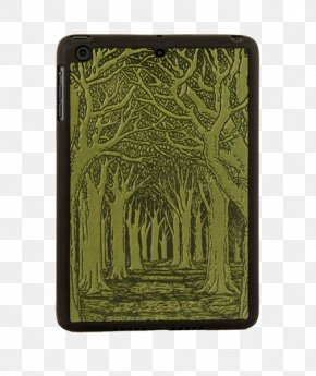 Tree - Avenue Of Trees Notebook Green Rectangle PNG