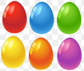 Colored Easter Eggs Clipart - Red Easter Egg Clip Art PNG