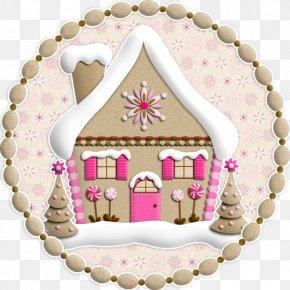 Cartoon Igloo Decoration - Gingerbread House Christmas Tree PNG