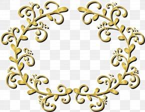 Golden Plant Frame - Plant Botany Gold Euclidean Vector PNG