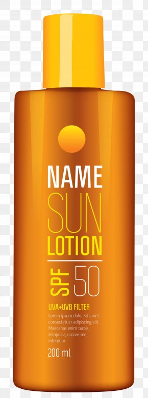 Sun Lotion Tube Clipart Picture - Lotion Sunscreen Lipstick Clip Art PNG
