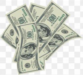 Large Transparent 100 Dollars Bills Clipart - Cash Money United States Dollar Clip Art PNG