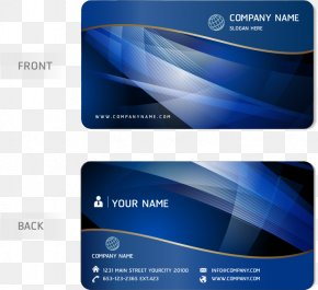 Vector Blue Business Card - Business Card Design PNG