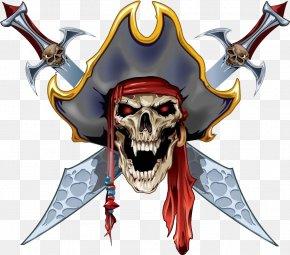 Pirate Skull Material - Tattoo Skull Piracy Flash Paper PNG
