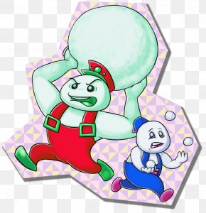 Snow Bross - Snow Bros Fan Art Drawing Arcade Game PNG
