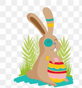 Hand-painted Rabbit - Easter Bunny Hare Clip Art PNG