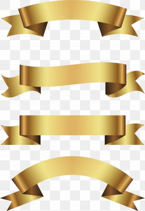 Gold Foil Paper Ribbon - Royalty-free Euclidean Vector Illustration PNG