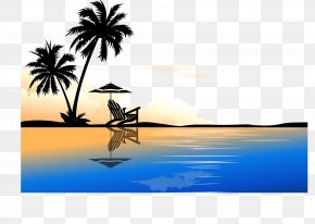 Sunshine Beach - Arecaceae Euclidean Vector Tree Clip Art PNG